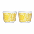 Marimekko Geranium White/Yellow Egg Cup Set
