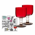 Marimekko Glass Goblet & Cocktail Napkins Gift Set