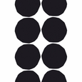 Marimekko Isot Kivet White / Black Cotton Fabric Repeat