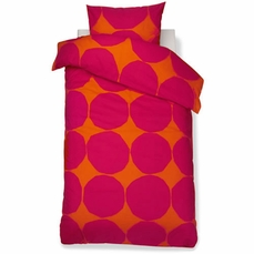 Marimekko Kivet Raspberry / Orange Bedding