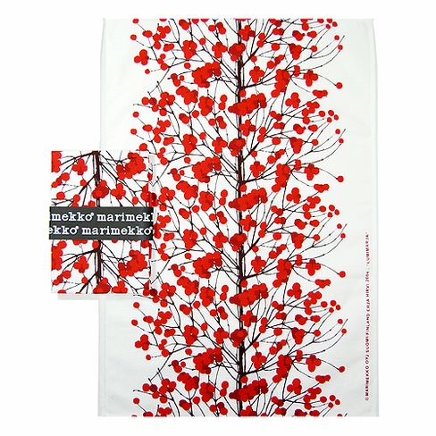 Marimekko Lumimarja Red Tea Towel Set