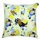 Marimekko Marie Celery/Chartreuse/Blue Throw Pillow