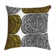 Marimekko Mehil�ispes� White/Yellow Throw Pillow