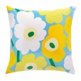 Marimekko Pieni Unikko Blue/Yellow/Green/White Throw Pillow