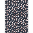 Marimekko Pieni Unikko Dark Grey / Coral Cotton Fabric