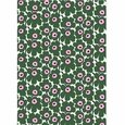 Marimekko Pieni Unikko White / Green / Pink Cotton Fabric