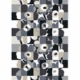 Marimekko Ruutu-Unikko Black Cotton Fabric