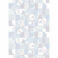 Marimekko Ruutu-Unikko White / Grey Cotton Sateen Fabric