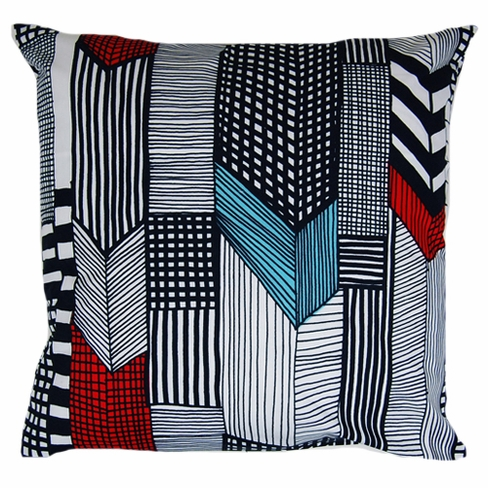 Marimekko Ruutukaava Throw Pillow