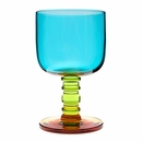 "Marimekko ""Socks Rolled Down"" Turquoise / Green / Yellow Goblet"