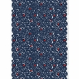 Marimekko Sonaatti White / Navy / Orange PVC-Coated Cotton Fabric