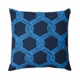 Marimekko Sulhasmies Blue Throw Pillow