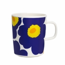 Marimekko Unikko Dark Blue / Orange Mug