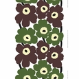Marimekko Unikko Green / Brown Fabric