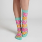 Marimekko Unikko Mint/Pink/Orange Socks