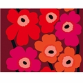 Marimekko Unikko Red/Purple Fabric
