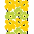 Marimekko Unikko Yellow/Lime Long Tablecloth