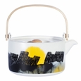 Marimekko Weather Diary White/Black/Yellow Teapot