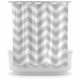Opima Chevron Grey Shower Curtain
