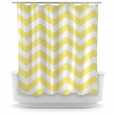 Opima Home Chevron Yellow Shower Curtain