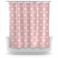 Opima Polka Dot Pink Shower Curtain