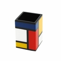 Pacific Connections Lacquered Mondrian Brush Holder