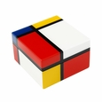 Pacific Connections Lacquered Mondrian Square Box