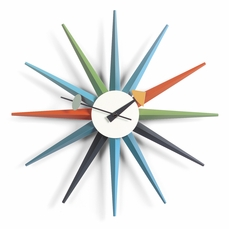 Vitra Multicolor Sunburst Clock
