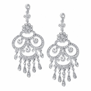 Austrian Crystal Vintage Chandelier Earrings