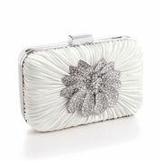 Bejeweled Ivory Miniaudiere Evening Bag