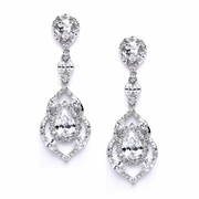Cubic Zirconia Dangle Earrings