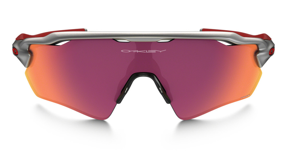 red oakleys  Oakley Radar EV Path Prizm Field MLB Collection Silver/Red/Red ...