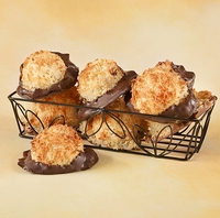 Macaroons Dipped <br>in Chocolate