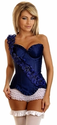 Floral Strap Underwire Corset  top with panty.