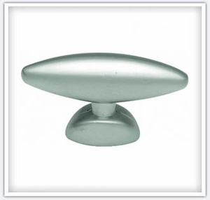 "Hickory Hardware 1-9/16"" Satin Nickel Metropolis Oval Knob PA0211-SN"