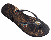 Crystal Skinnies Peacocks Flipflops