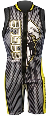 Eagle Sports Bird of Prey Barefoot Wetsuit Black and Yellow - Click to enlarge