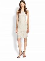 Gray Amea Lace Dress