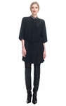 3.1 PHILLIP LIM Mixed Silks Pleated Shirt Dress