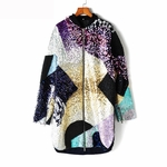 3.1 Phillip Lim Multicolor Black Sequinned and Beaded Coat