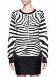 A.L.C. Animal Zebra Print Rayon Knit Sweater
