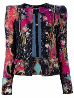 Abstract Print Biker Jacket