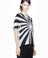 Acne Fay Print Wvn Black white Print T-shirt Top