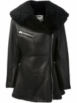 Black Large Laple Lined Coat