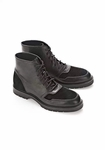 Alexander Wang Black Leather Suede Kaleb Boots