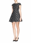 Alice + Olivia Black Amor Heart Pattern Twill Dress