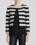 Black Kidman Boxy Stripe Jacket