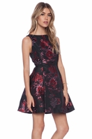 Alice Olivia Jorah Box Pleat Floral Dress