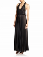 Morris T-Back Pleated Chiffon Jumpsuit