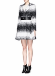 ALICE + OLIVIA THERESE WOOL-MOHAIR BLEND MIDI A-LINE COAT